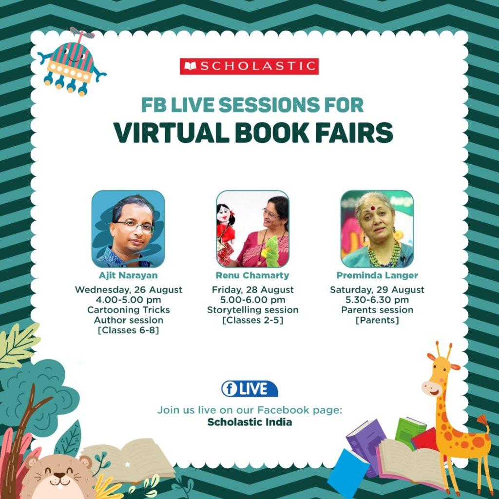 FB Live session for Scholastic Virtual Book Fair 2020